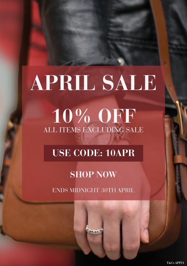 April Sale 10% Off
