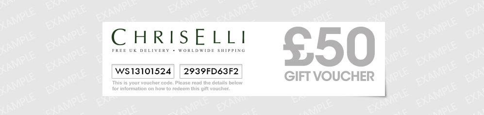 An example of the ChriElli voucher that you would receive